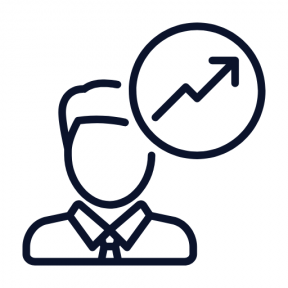 Icon Graphic - #SimpleIcon #IconElement #person #man #businessman #statistics #stats #people