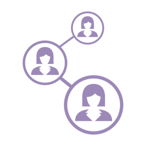 Icon Graphic - #SimpleIcon #IconElement #social #femenine #network #media #circles #woman