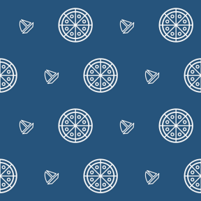 Pattern Design - #IconPattern #PatternBackground #food #boat #italian #cheese #pasta #transport #sailboat