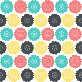 Pattern Design - #IconPattern #PatternBackground #wavy #squares #frames #ovals #soccer #circles #butterflies #football #game #swirly