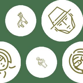Pattern Design - #IconPattern #PatternBackground #add #animal #hat #circular #head #people #zebra #profile #bust