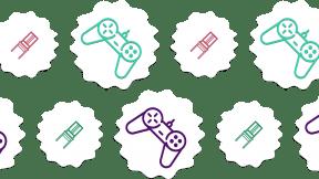 HD Pattern Design - #IconPattern #HDPatternBackground #rectangles #home #video #game #raggedborders #jagged #wavy #controller #gamepad