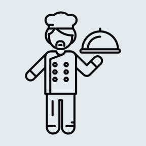 Icon Graphic - #SimpleIcon #IconElement #restaurant #cook #people #cooking #man #chef