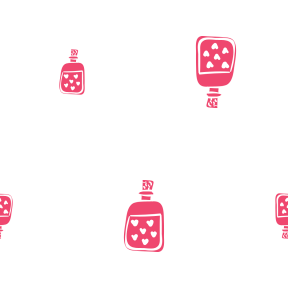 Pattern Design - #IconPattern #PatternBackground #bottle #perfume #cologne #heart #scent
