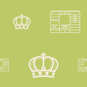 Pattern Design - #IconPattern #PatternBackground #hanger #royal #royalty #drawers #studs #cross #crowns #cupboard #gems #crown