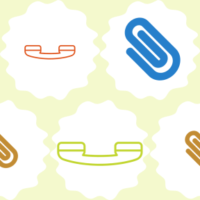 Pattern Design - #IconPattern #PatternBackground #frames #paperclips #telephone #attach #rough #scalloped #swirly #clips