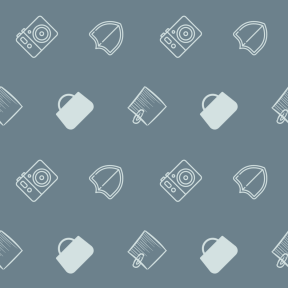 Pattern Design - #IconPattern #PatternBackground #camera #interface #shopping #security #commerce #shields #photo