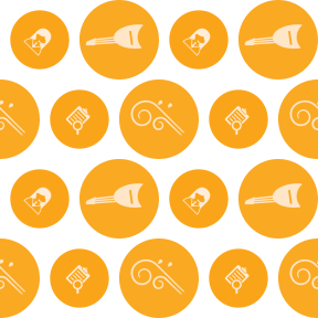 Pattern Design - #IconPattern #PatternBackground #circles #musical #raining #rounded #clipboards #music