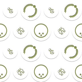 Pattern Design - #IconPattern #PatternBackground #valentines #add #leisure #circular #symbol #hearts #branches #wreath #people #shapes