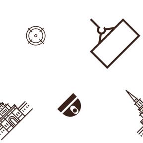 Pattern Design - #IconPattern #PatternBackground #aim #palace #building #Tools #target #camera #monuments #crane #hook #sniper