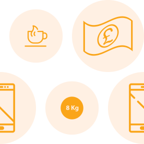 Pattern Design - #IconPattern #PatternBackground #cup #weight #mobile #phone #pounds #putters #smartphone