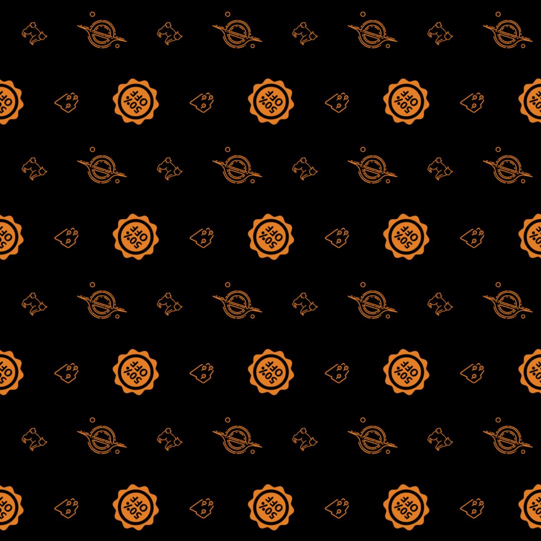 Pattern Design - #IconPattern #PatternBackground #shopper #pet #kitty #commerce #sticker #and #percentage #pointer #animal