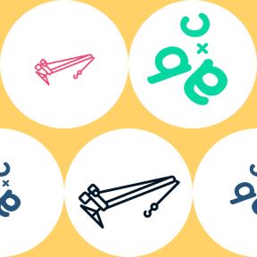 Pattern Design - #IconPattern #PatternBackground #symbols #symbol #circle #cargo #shapes #trucking #letters #circular #letter #construction