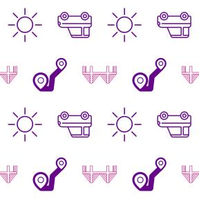 Pattern Design - #IconPattern #PatternBackground #usa #sunshine #bridge #location #street #itinerary #Trajectory #monuments #star