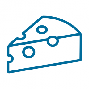 Icon Graphic - #SimpleIcon #IconElement #cheese #food #piece #dairy #Emmental