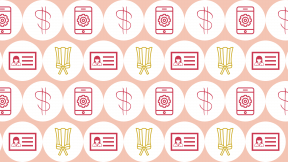 HD Pattern Design - #IconPattern #HDPatternBackground #cellphone #circle #smartphone #money #add #sign #shapes #interface #woman