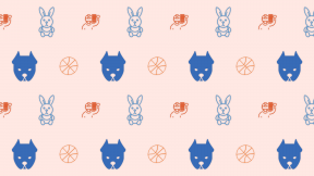 HD Pattern Design - #IconPattern #HDPatternBackground #college #sports #people #rabbits #game #ball #animals #rabbit #Pitbull