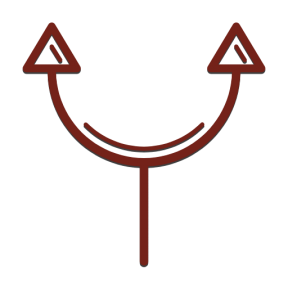 Icon Graphic - #SimpleIcon #IconElement #arrows #arrow #connections #curve #connectors #curved #connection