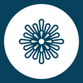 Icon Graphic - #SimpleIcon #IconElement #blossom #nature #circle #petals #black #shapes #circular