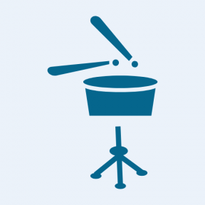 Icon Graphic - #SimpleIcon #IconElement #drum #tool #music #tripod #percussion #instrument #drums
