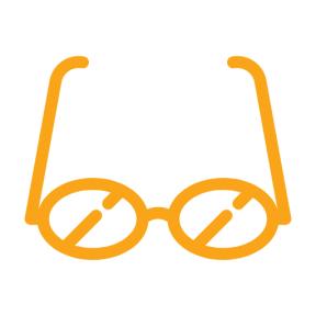 Icon Graphic - #SimpleIcon #IconElement #glasses #optic #reader #eyeglasses #reading #optical