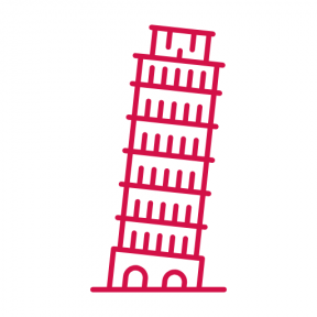 Icon Graphic - #SimpleIcon #IconElement #monuments #towers #renaissance #italy #monument