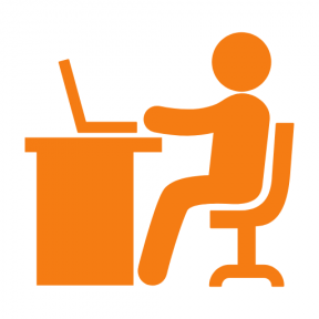 Icon Graphic - #SimpleIcon #IconElement #office #work #desk #job #station #worker #people