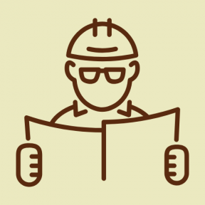 Icon Graphic - #SimpleIcon #IconElement #people #working #worker #glasses #architecture #plans
