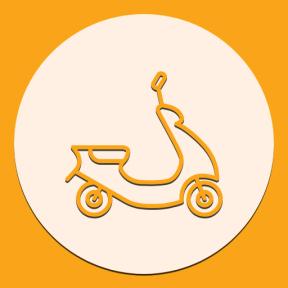 Icon Graphic - #SimpleIcon #IconElement #scooter #circle #essentials #motor #transport #motorbike #motorbiking #geometric #shape