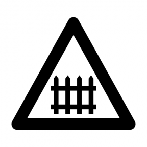 Icon Graphic - #SimpleIcon #IconElement #train #Flags #Maps #triangle #traffic #sign #railroad #circulation #warning #and