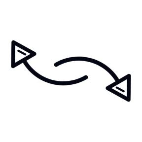 Icon Graphic - #SimpleIcon #IconElement #arrows #connector #curve #connectors #arrow #curved