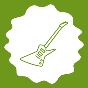 Icon Graphic - #SimpleIcon #IconElement #bass #frames #instrument #rough #decorative #circles #swirly #scalloped #edges