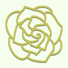 Icon Graphic - #SimpleIcon #IconElement #botanical #blossom #gardenia #nature #petals #flower