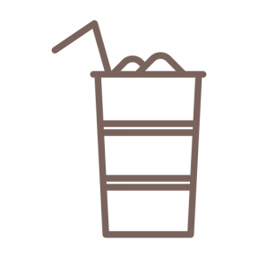 Icon Graphic - #SimpleIcon #IconElement #cubes #drink #food #junk #straw #fast #ice