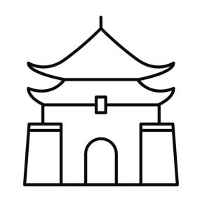 Icon Graphic - #SimpleIcon #IconElement #hall #china #kai-shek #monuments #chiang