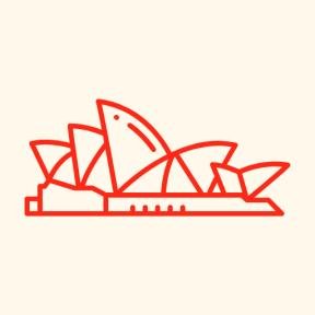 Icon Graphic - #SimpleIcon #IconElement #music #australian #monuments #australia #musical #monument