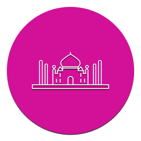 Icon Graphic - #SimpleIcon #IconElement #shape #monument #agra #mahal #essentials #black #circle #shapes #geometric