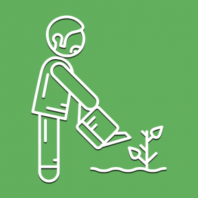 Icon Graphic - #SimpleIcon #IconElement #watering #garden #can #gardening #people #man #plants