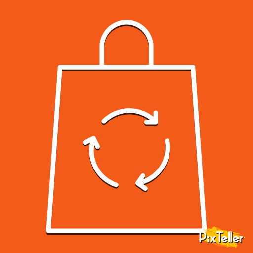 Red,                Yellow,                Orange,                Text,                Font,                Product,                Line,                Area,                Supermarket,                Arrows,                Bags,                Ecological,                Circular,                 Free Image