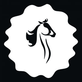 Icon Graphic - #SimpleIcon #IconElement #decorative #animals #circles #horse #frame