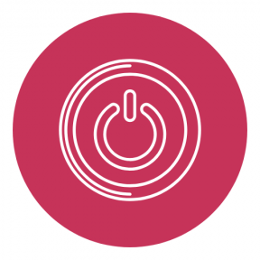 Icon Graphic - #SimpleIcon #IconElement #option #black #on #button #geometrical #multimedia #circular #circle #shapes