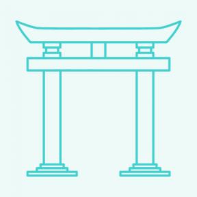 Icon Graphic - #SimpleIcon #IconElement #torii #monuments #japan #gate