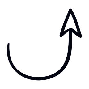 Icon Graphic - #SimpleIcon #IconElement #upward #arrows #arrow #semicircle #rotation