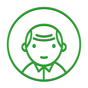 Icon Graphic - #SimpleIcon #IconElement #user #people #circle #male #bald