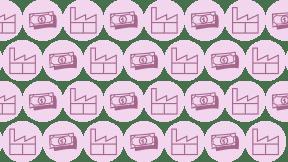 HD Pattern Design - #IconPattern #HDPatternBackground #dollars #shapes #paper #money #cash #factory #round #buildings