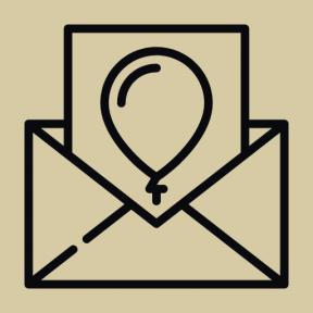 Icon Graphic - #SimpleIcon #IconElement #balloon #invitation #party #envelope #greeting #birthday #celebration #card