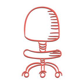 Icon Graphic - #SimpleIcon #IconElement #chairs #buildings #wheels #seat #office