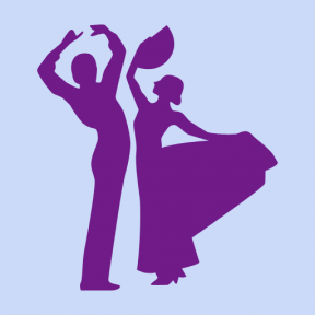 Icon Graphic - #SimpleIcon #IconElement #couple #dancing #people #persons #man #flamenco #silhouettes #woman