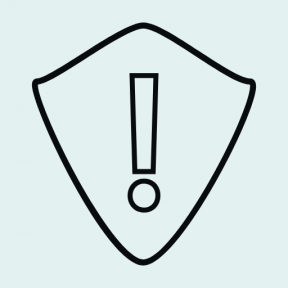 Icon Graphic - #SimpleIcon #IconElement #danger #protection #exclamation #defense #shield #weapons
