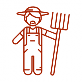 Icon Graphic - #SimpleIcon #IconElement #farm #hat #rake #farming #worker #people